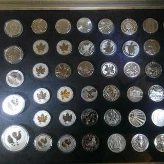 銀幣,紀念幣,錢幣,收藏錢幣,硬幣,幣,silver coin,silver,coin~世界各國收藏銀幣(9999純銀一盎司)(The silver coin 1oz)