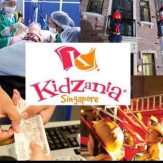 Kidzania Singapore May Admission.