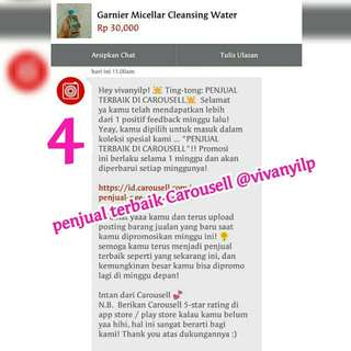 Thanks Carousell @vivanyilp menjadi penjual terbaik minggu ini