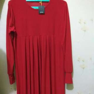 Blouse Red Jersey By Jeda Collection