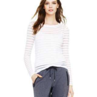 Club Monaco Sheer LS Top