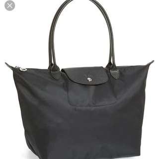 Longchamp Le Pliage Neo Medium Black (preloved)