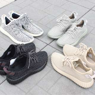 YEEZY 350 Pirate Black, Moon Rock, Oxford Tan, Turtle Dove