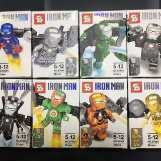 Ironman Mini Figurines x8