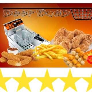 Deep Fryer, Burger Griddle, Takoyaki Maker