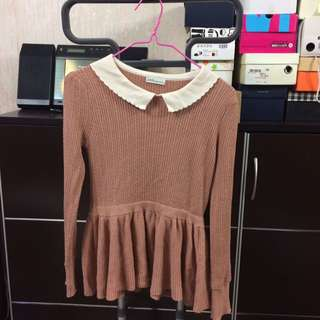 Earth Music Pink Sweater Top