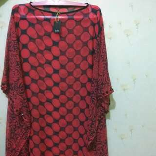 Blouse Red Sifon By Jeda Collection