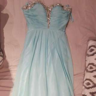 Teal Long Prom/grad Dress