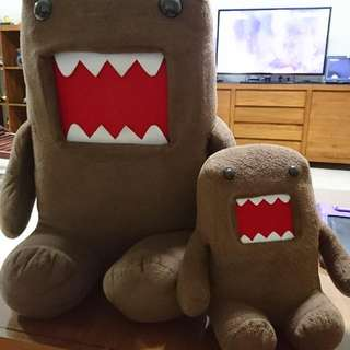 Preloved Authentic DOMO  Plushies Pls Take Noted : Selling In A Pair $40.00