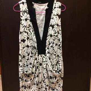 Another Black & White Floral Dress
