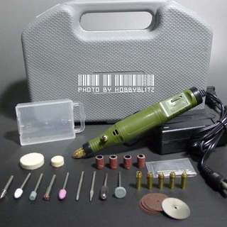 Hobby Variable Speed Rotary Tool with Various Attachments For Drilling, Grinding, Polishing And Cutting