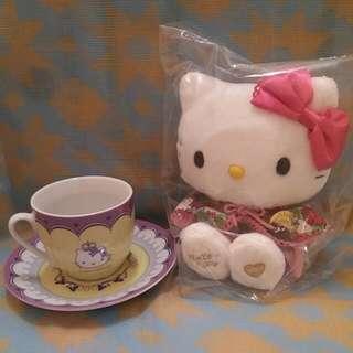 Crabtree & Evelyn Kitty 茶杯紫粉set