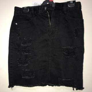 Distressed/ripped Skirt
