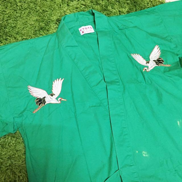 日本和服/薄外套/刺繡外套/丹頂鶴