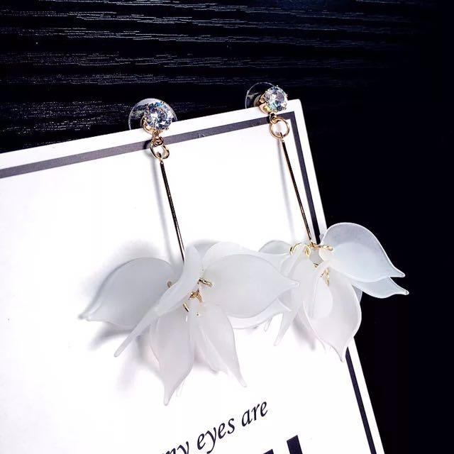 韓版仙氣女神款花朵耳環