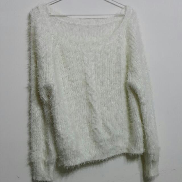 ❤︎就愛二手衣❤︎︎白色針織毛衣
