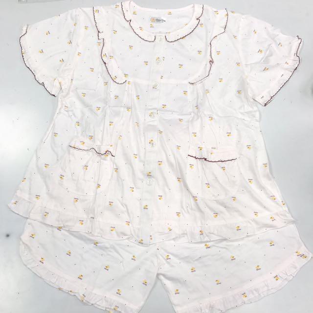 夏季短袖睡衣_滿版小雞款