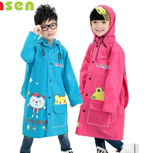 預購  男女童雨披 帶書包位雨衣