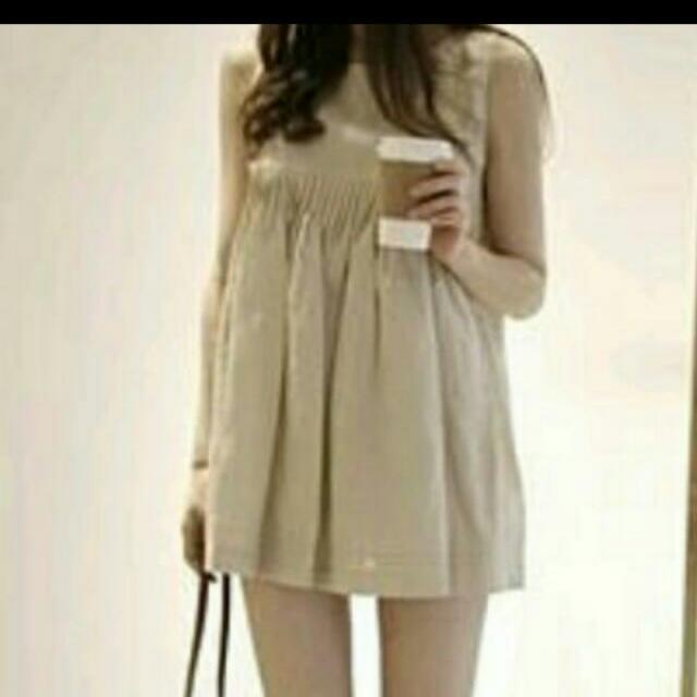 韓製 白色 洋裝