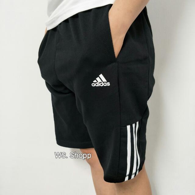 正品 Adidas 三線 短褲 棉褲 運動褲 健身褲 三葉草 三線 三邊 adidas original nike ua