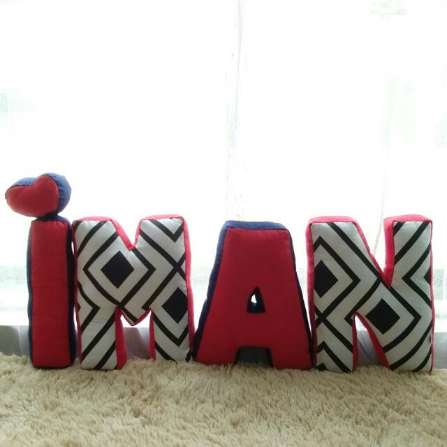 Alphabet Pillow (IMAN)