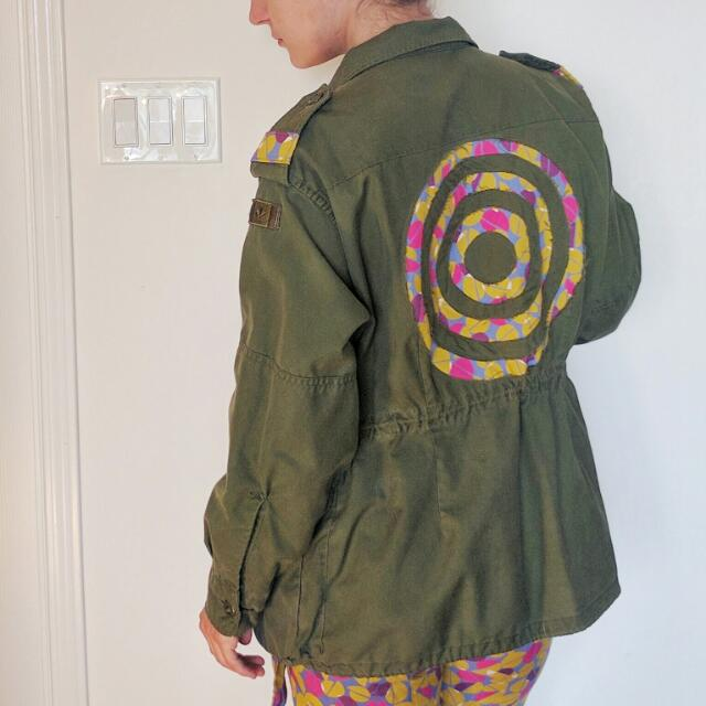 Army Jacket With Fun Print