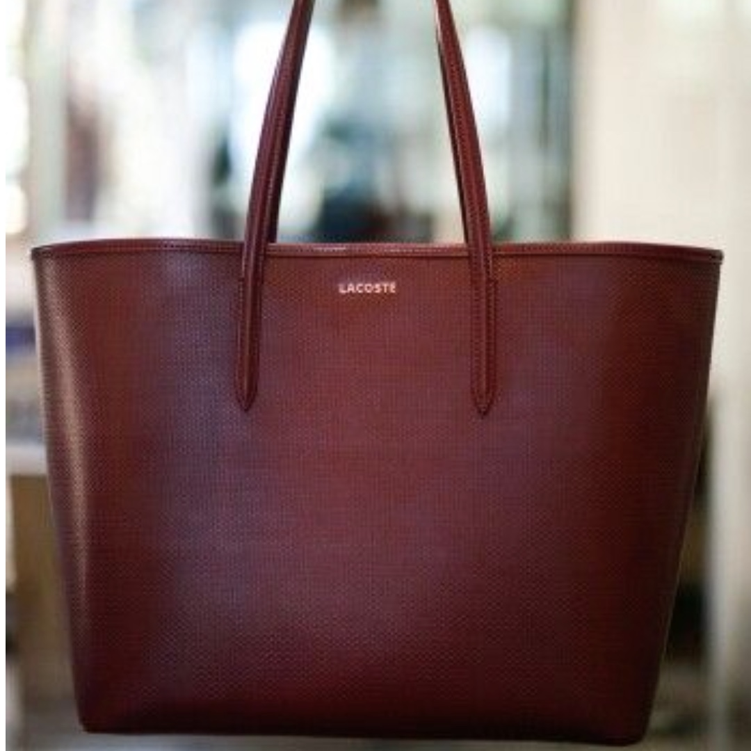 0c2d02daa4a7 Authentic Lacoste Burgundy Tote Bag