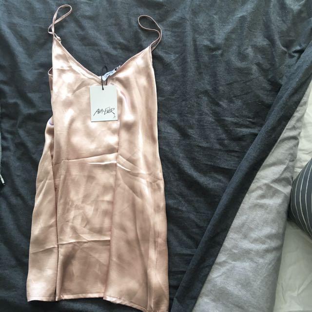 Ava & Ever Pink Silk Shift Dress