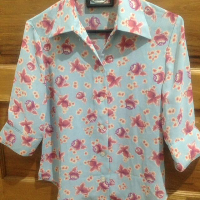 Babyblue Flower Shirt