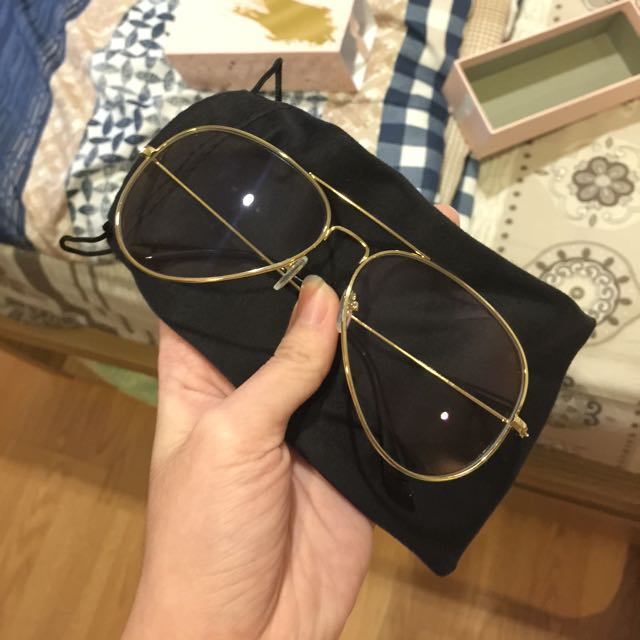 baddie glasses gold