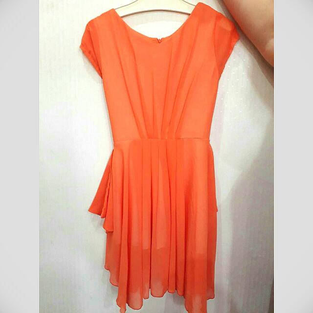 Baju Bright Orange Dress
