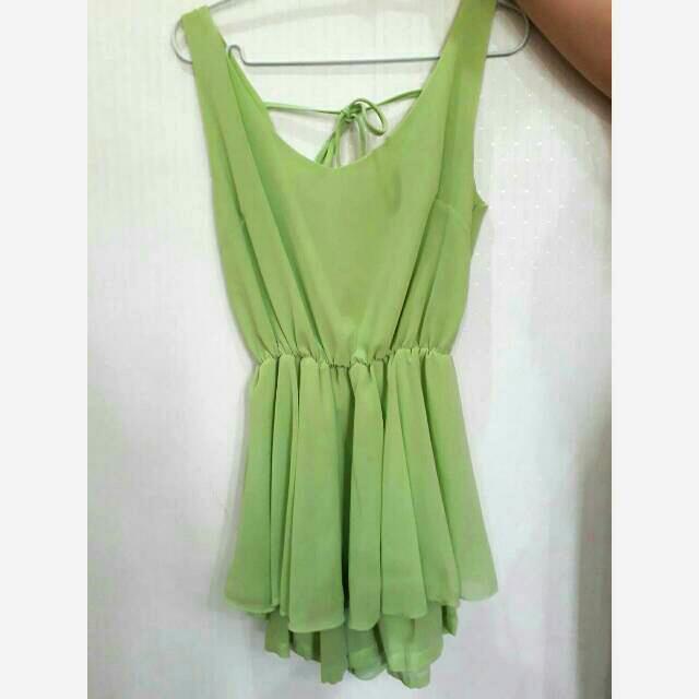 Baju Fashion Green Set
