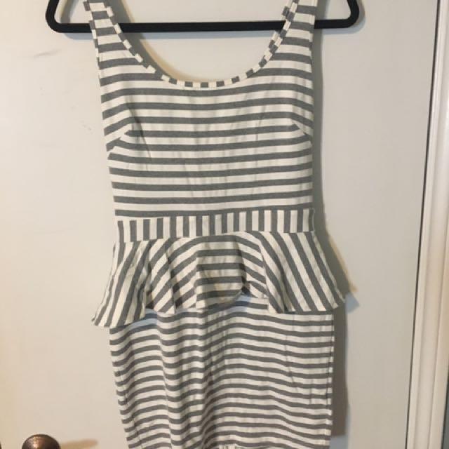 BEBE Peplum dress