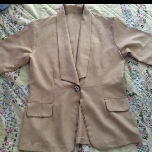 beige blazer (repriced)