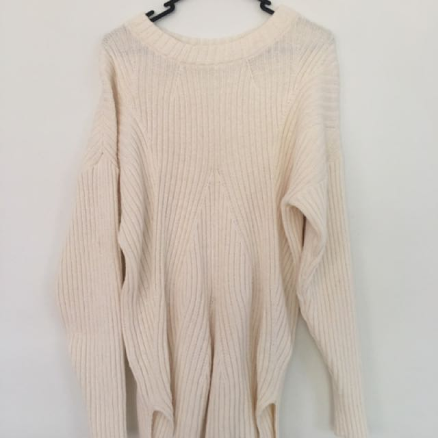 Billabong White Knit Pullover Size 10