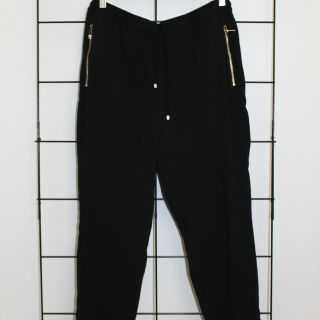 Black Low Waist Pants