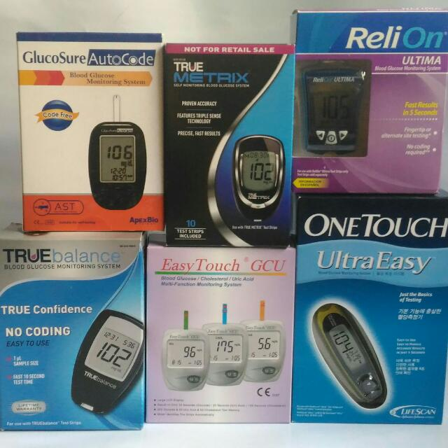 Blood Glucose Glucometer And Strips