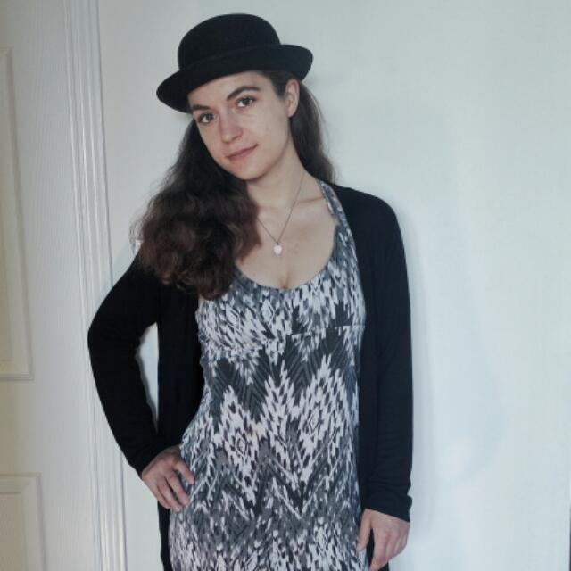 Bohemiam Black & White Dress