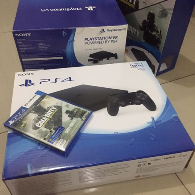 Brand-new/Unused PS4 and PlayStation VR (bundle)