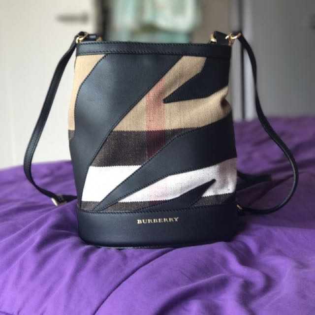 80782034a Burberry The Bucket Backpack In Canvas Check An Leather, Luxury, Bags &  Wallets on Carousell