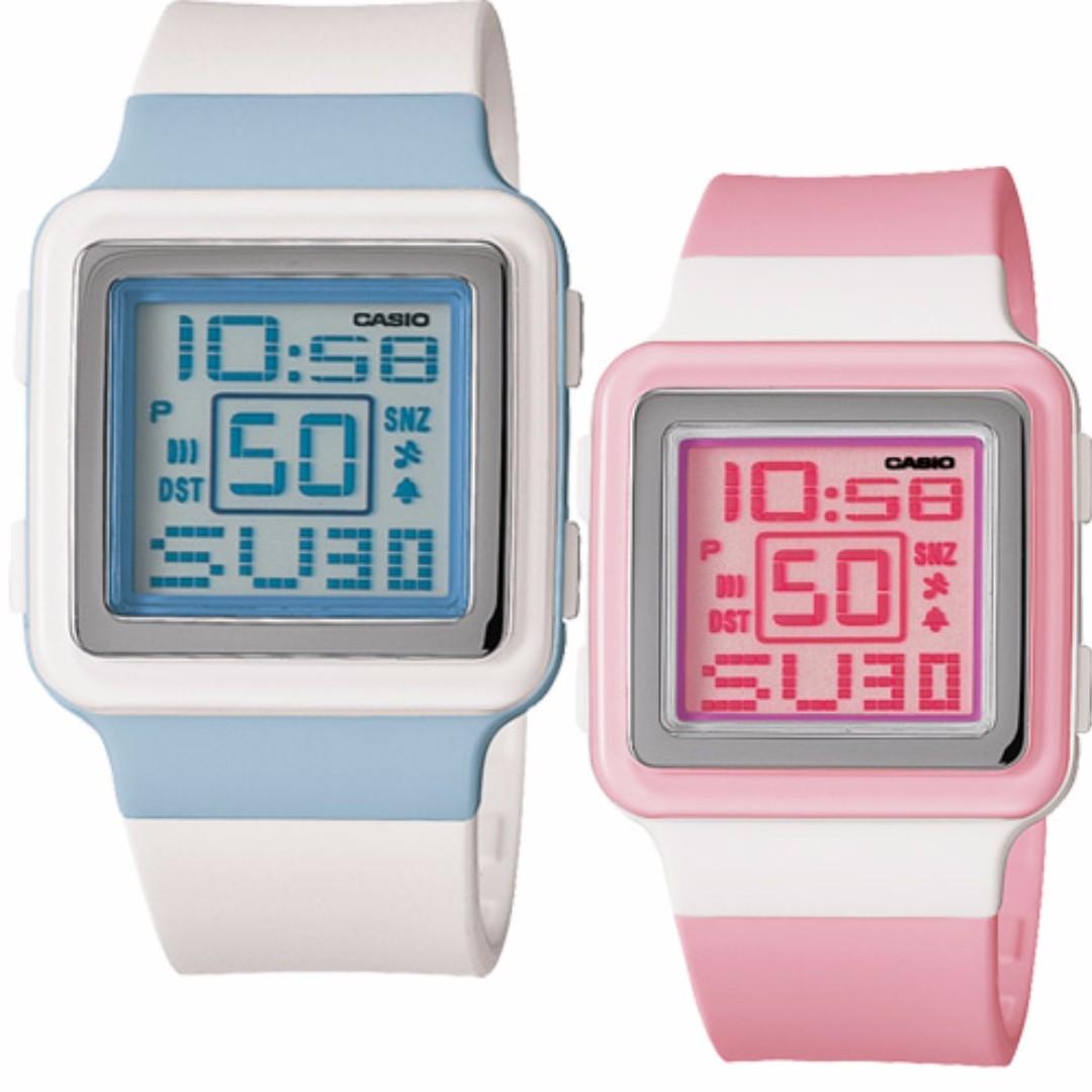 CASIO Poptone棉花糖彩衣粉紅色手錶