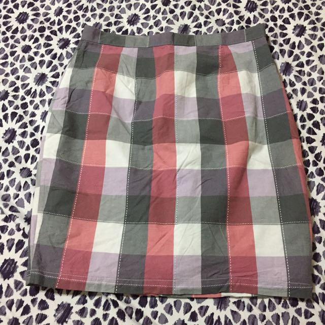 Checkered Skirt Medium