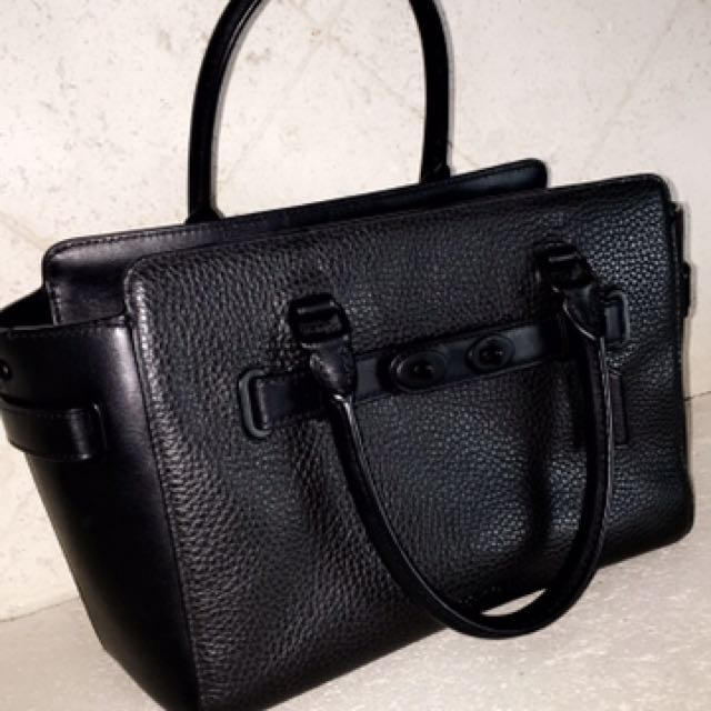 PRICE REDUCED! Coach All Black Swagger Bag