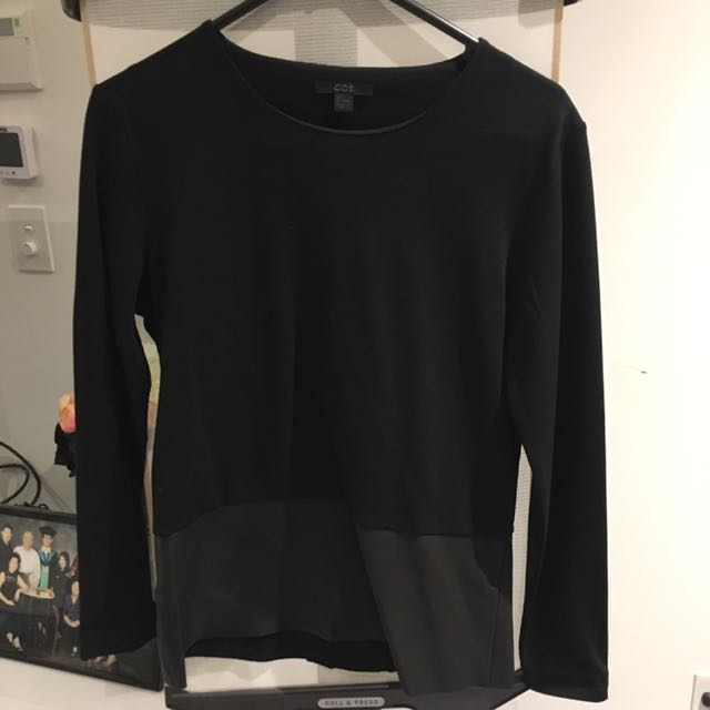COS Long Sleeve (Leather Panel)