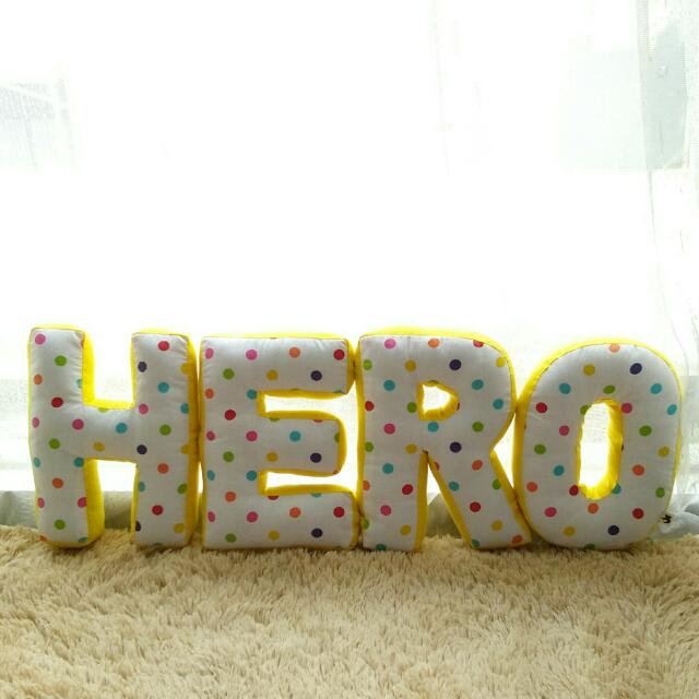 Customize Alphabet Pillow (HERO)