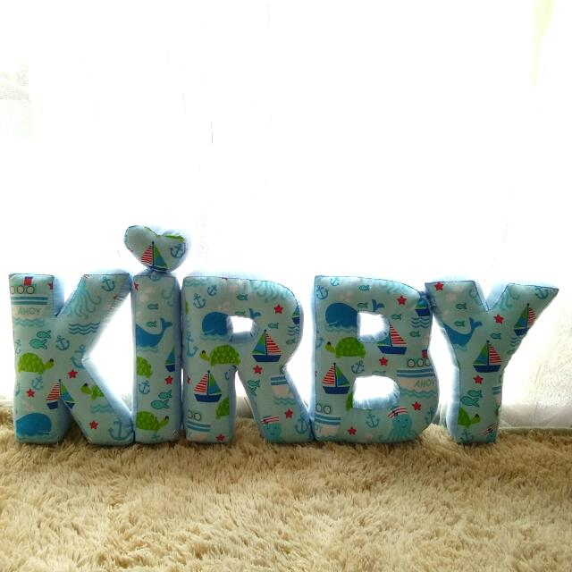 Customize Alphabet Pillow (blue whale)