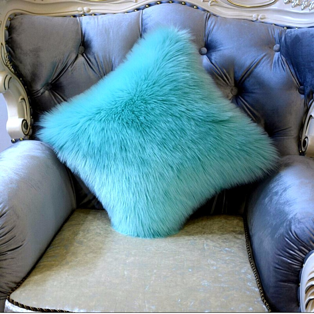 home fleece throw cover inches pillow decor faux plush soft product products image x fur