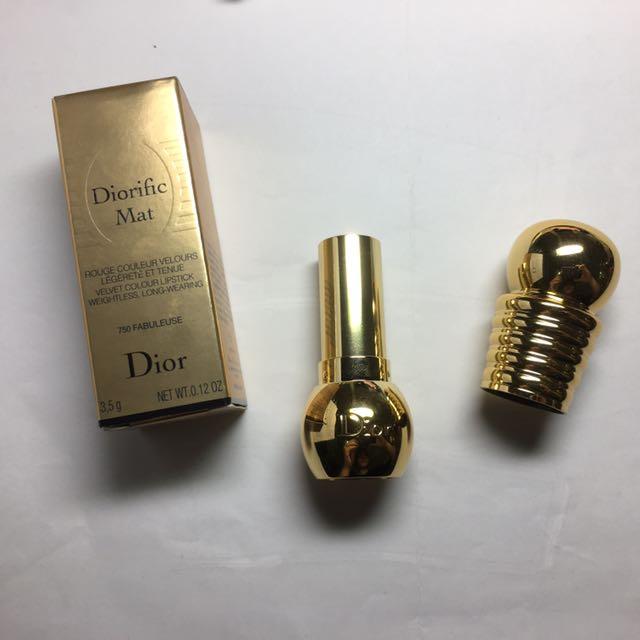 Dior 迪奧金燦粉霧絲絨唇膏 #750 FABULEUSE 2016聖誕節限量款