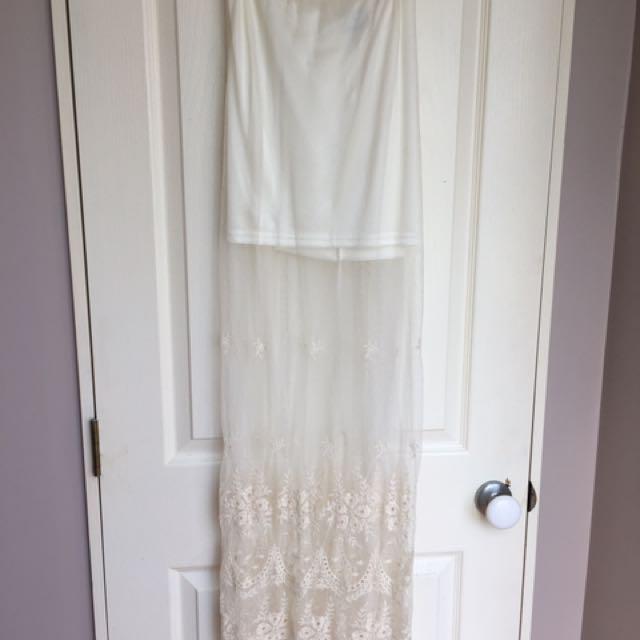 Elegant Maxi Lace Skirt 🎀💕