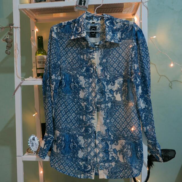 Ethnic Blue Shirt By CC Collections EU